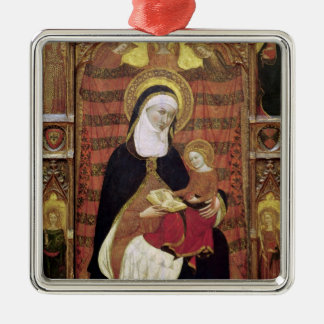 St. Anne and the Virgin Silver-Colored Square Decoration