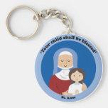 St. Anne Basic Round Button Key Ring
