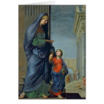 St. Anne Leading the Virgin to the Temple Greeting Card