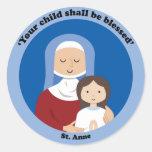 St. Anne Round Sticker