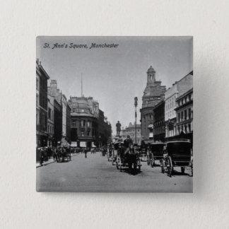 St. Ann's Square, Manchester, c.1910 15 Cm Square Badge