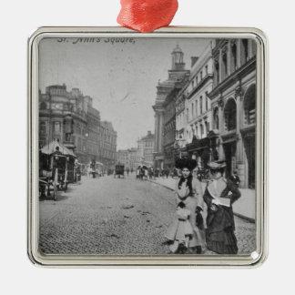 St. Ann's Square, Manchester, c.1910 Christmas Ornament