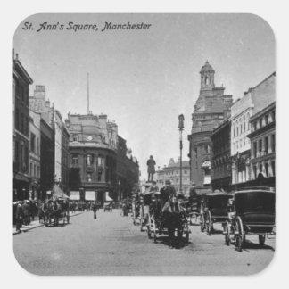 St. Ann's Square, Manchester, c.1910 Square Sticker