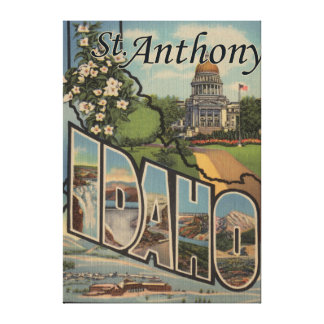 St. Anthony, Idaho - Large Letter Scenes Canvas Print