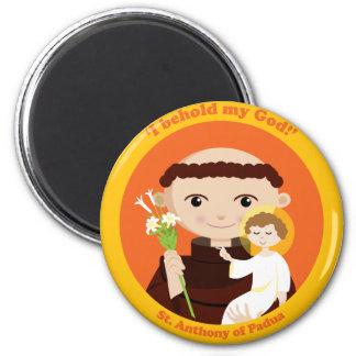 St. Anthony of Padua 6 Cm Round Magnet