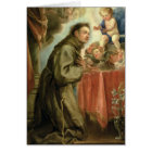 St. Anthony of Padua  adoring the Christ Child Card