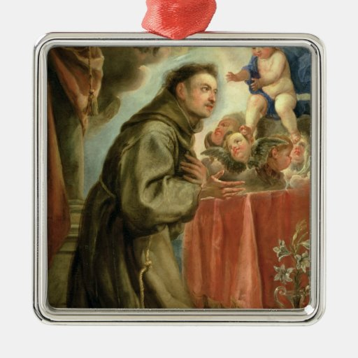 St. Anthony of Padua  adoring the Christ Child Ornaments