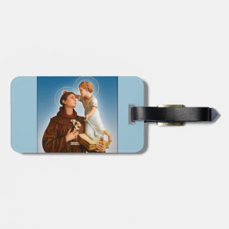 ST. ANTHONY OF PADUA—NEVER LOSE YOUR BAGS! LUGGAGE TAG