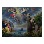 St. Anthony of Padua Preaching to the Fish Poster