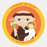St. Anthony of Padua Round Stickers