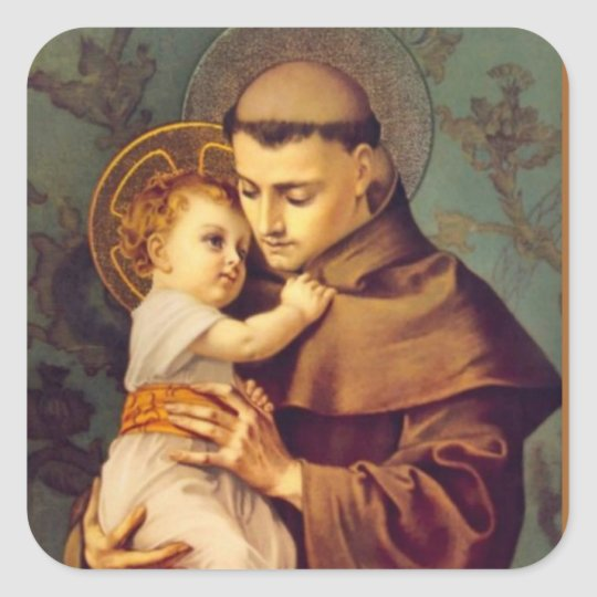 St. Anthony of Padua with Baby Jesus Square
