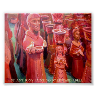 St Anthony Statues Poster