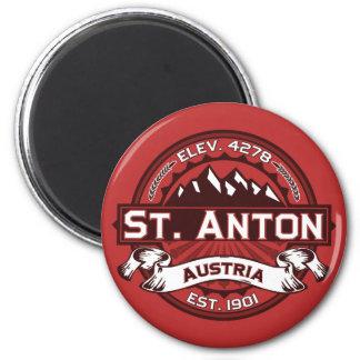 St. Anton Logo Fridge Magnet