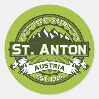 St. Anton Logo Round Sticker