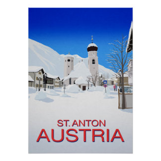 St Anton Ski Resort Austria Poster