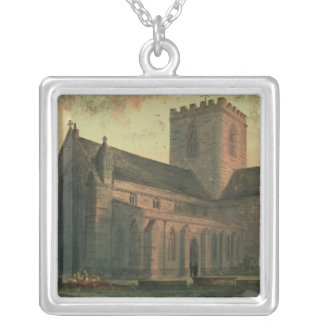 St. Asaph's Cathedral, View from the South-West Silver Plated Necklace