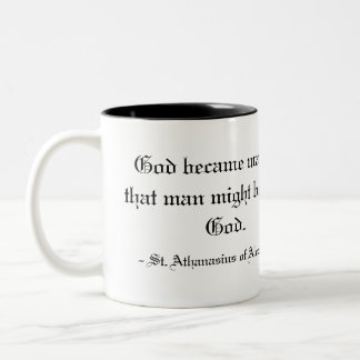 - St. Athanasius of Alexandria Two-Tone Coffee Mug