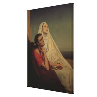 St. Augustine and his mother St. Monica, 1855 Canvas Print