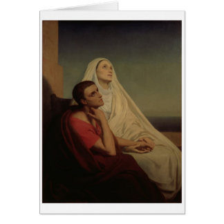 St. Augustine and his mother St. Monica, 1855 Card