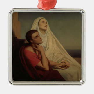 St. Augustine and his mother St. Monica, 1855 Christmas Ornament