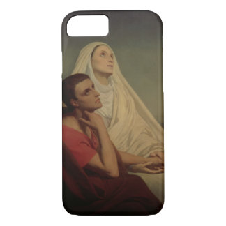 St. Augustine and his mother St. Monica, 1855 iPhone 8/7 Case
