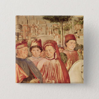 St. Augustine Departing for Milan 15 Cm Square Badge