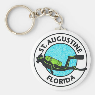 St. Augustine Diver Basic Round Button Key Ring
