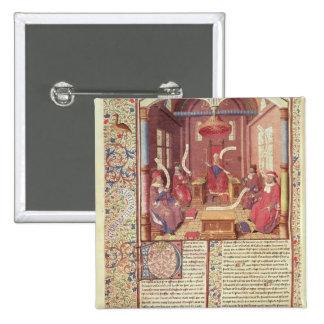 St. Augustine, Epicurus, Zeno, Antiochus & 15 Cm Square Badge