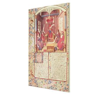 St. Augustine, Epicurus, Zeno, Antiochus & Gallery Wrap Canvas