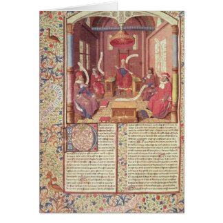 St. Augustine, Epicurus, Zeno, Antiochus & Greeting Card