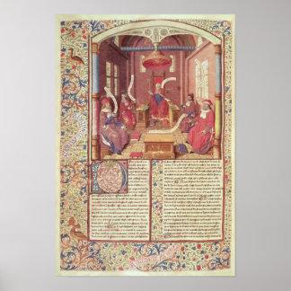 St. Augustine, Epicurus, Zeno, Antiochus & Poster
