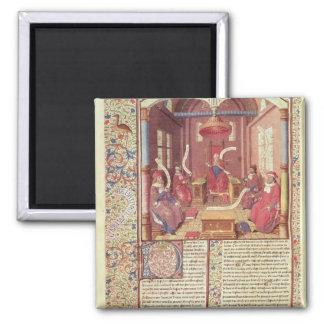 St. Augustine, Epicurus, Zeno, Antiochus & Square Magnet