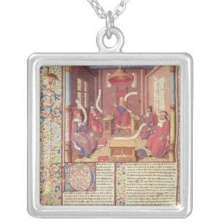 St. Augustine, Epicurus, Zeno, Antiochus & Square Pendant Necklace