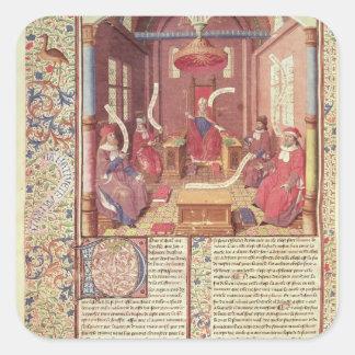 St. Augustine, Epicurus, Zeno, Antiochus & Square Sticker