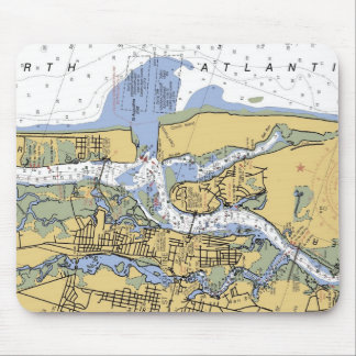 St. Augustine FL Nautical  Harbor Chart mousepad