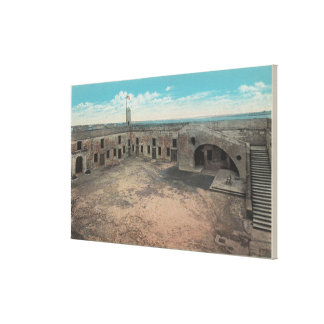 St. Augustine, Florida - Bird's Eye of Ft. Mario Canvas Print