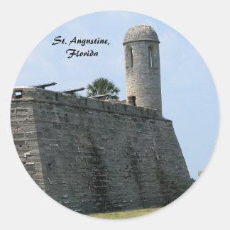 St. Augustine Florida fort castillo de san marcos Round Sticker