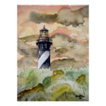 St Augustine Florida lighthouse painting Posters