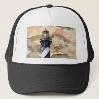 St Augustine Florida lighthouse painting Trucker Hat