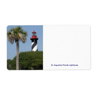 St. Augustine Florida Lighthouse Shipping Label