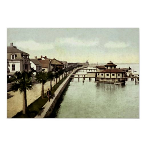 St. Augustine, Florida Sea Wall Poster