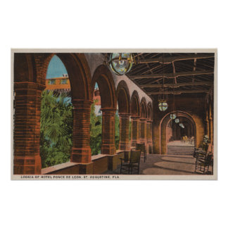 St. Augustine, Florida - View of Hotel Ponce de Poster