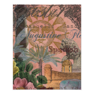 St. Augustine Florida Vintage Collage Posters