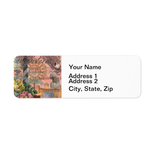 St. Augustine Florida Vintage Collage Return Address Label