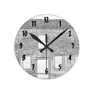 Line Drawing Wall Clocks | Zazzle.co.uk
