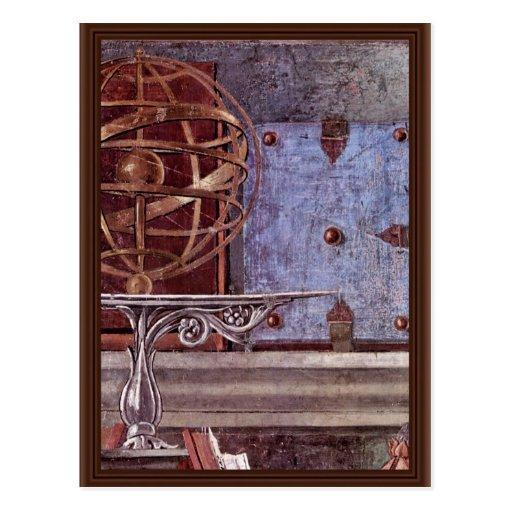 St. Augustine In Contemplative Prayer Detail Postcards