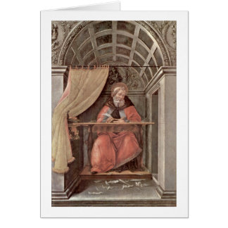 St Augustine In Exam By Sandro Botticelli Greeting Cards