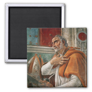St. Augustine in his Cell, c.1480 Square Magnet