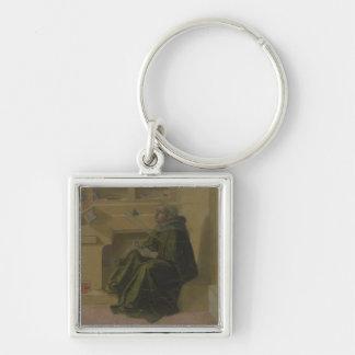 St. Augustine in his Study (predella of the Barbad Silver-Colored Square Key Ring