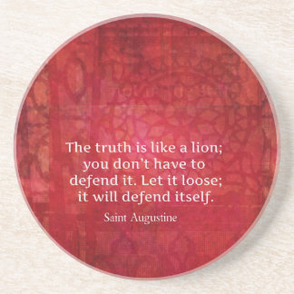 St. Augustine inspirational quote on TRUTH Drink Coaster